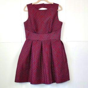 Closet London Structured Polkadot Dress w/ Pockets
